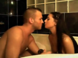 Sandra sucks and gets fucked by her boyfriend in the bath