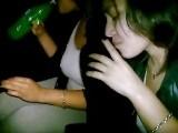 She drinks soda to swallow cum!