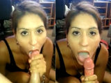 Amateur MILF rides dick then I cum in her mouth