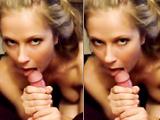 Lusty girlfriend blowing cock in pov sextape